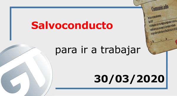 salvoconducto boe 30/03/2020
