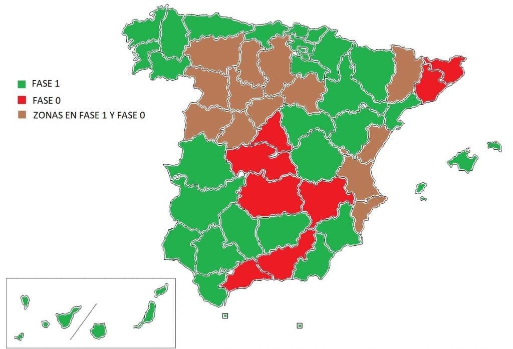 mapa fase 1 desescalada