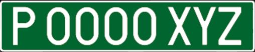 matrículas de vehículos temporales verde