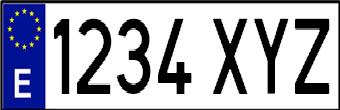 matrícula de vehículos ordinaria corta